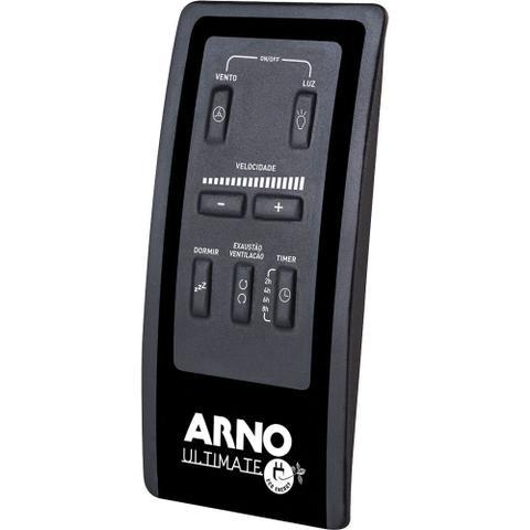 Imagem de Ventilador de Teto 3 Pás Arno Ultimate Globo com Controle Remoto Branco 127V