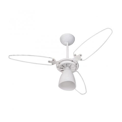 Imagem de Ventilador de Teto 3 Pás Transparente com Luminária Wind Light Ventisol 127V Branco