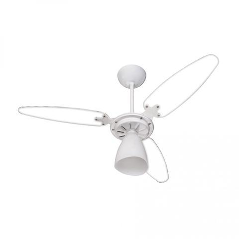 Imagem de Ventilador de Teto 3 Pás Transparente com Luminária Wind Light Ventisol 220V Branco