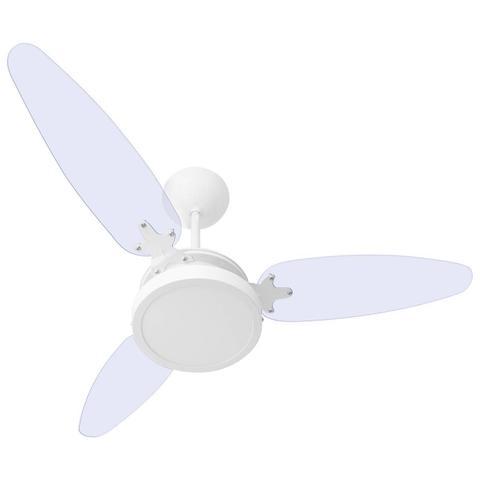 Imagem de Ventilador De Teto 3 Pás Wind Light Transparente Luminária Plafon Led 18w Ponente