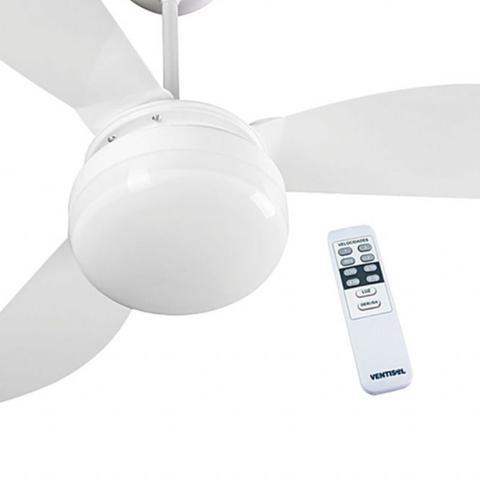 Imagem de Ventilador de Teto Ventisol Fenix Premium Branco 3 velocidades com Controle Remoto 127V