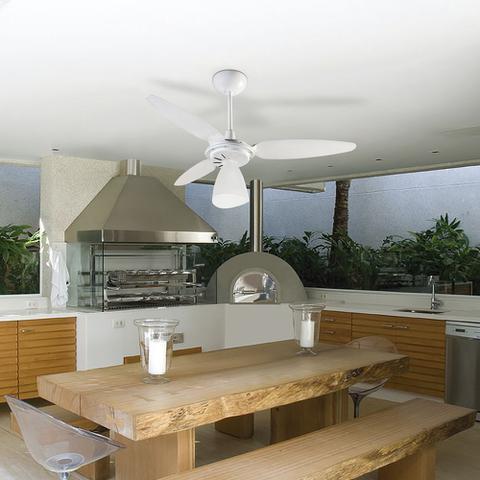 Imagem de Ventilador de Teto Ventisol Wind Light com Controle Remoto 3 Pás Luminária Branco - 127V