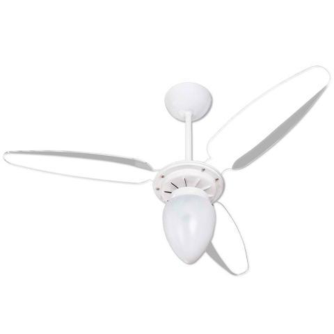 Imagem de Ventilador de Teto Wind 3 Pás Branco e Transparente para 1 Lâmpada Ventisol