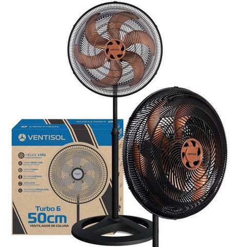 Imagem de Ventilador Osc Coluna Turbo 6p 50cm Bronze 220v Premium