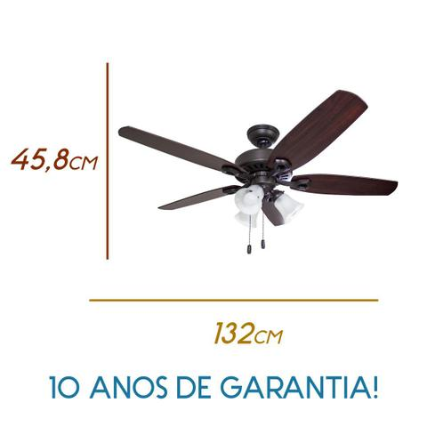Imagem de Ventilador Teto Hunter Fan Builder Plus 5 Pás 127v St50062