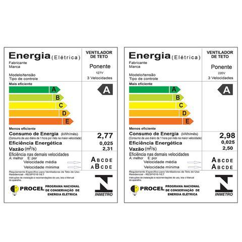 Imagem de Ventilador Teto Wind Light Silent Luminária Plafon Led 18w Redondo Ponente - Kit 03 unidades