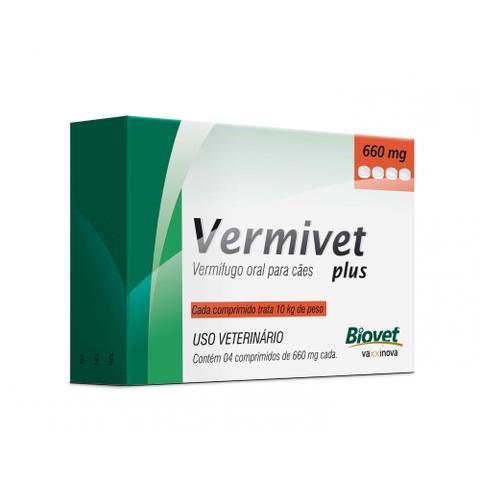 Imagem de Vermífugo Vermivet Cães Plus 660mg 4 Comprimidos