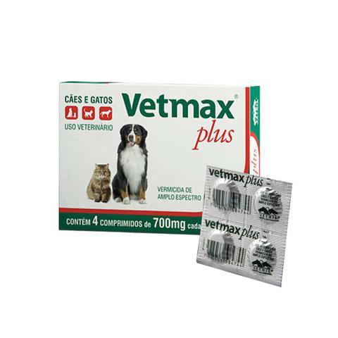 Imagem de Vermífugo Vetmax Plus 4 Comprimidos - Vetnil