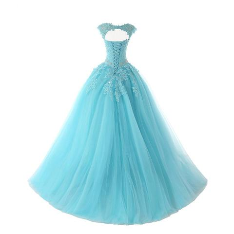 Imagem de Vestido de 15 anos Debutante Festa Lindo Azul Pronta Entrega Cód.126B