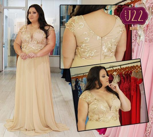 Imagem de Vestido de festa bordado plus size- 1349fp