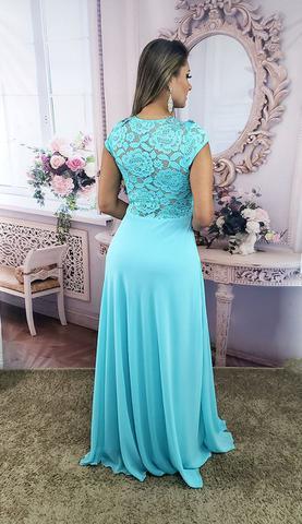 Imagem de Vestido de Festa Lindo Azul Tiffany , Casamento, Madrinha Manga