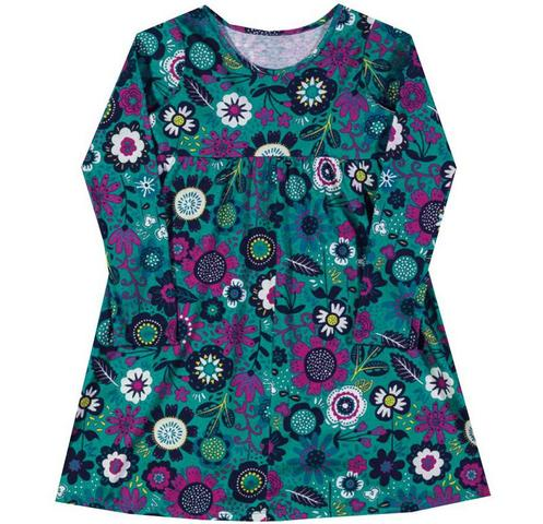 Imagem de Vestido em meia malha estampada Inverno Marisol verde + marsala