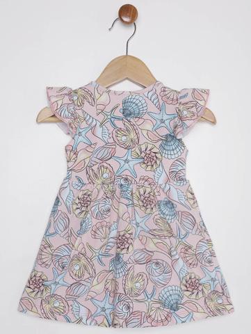 Imagem de Vestido Estampado Infantil Para Bebê Menina - Salmão