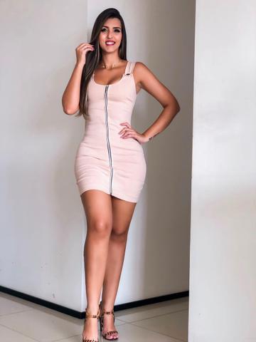 Imagem de Vestido Feminino Com Ziper Lindo Moda Roupas Feminina
