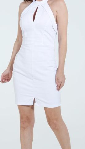 Imagem de Vestido Feminino Jeans Branco Frente Unica Ref.a309!