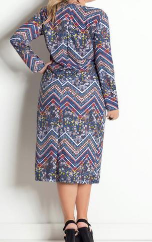 Imagem de Vestido feminino midi étnico plus size ref.p45v