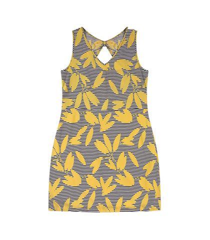 Imagem de Vestido feminino Plus Size regata estampa folhas ref.ro6v