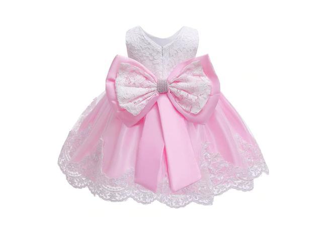 Imagem de Vestido Festa Infantil Princesa Renda Estruturada Luxo Tam 9/12 MESES