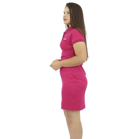 Imagem de Vestido Gola Polo Malha Rosa Chiclete Anagrom Ref. 9007