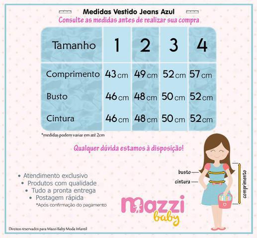 Imagem de Vestido Infantil Jeans Aniversário Casamento Festa