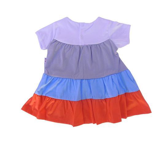 Imagem de Vestido Infantil Listrado com Laço