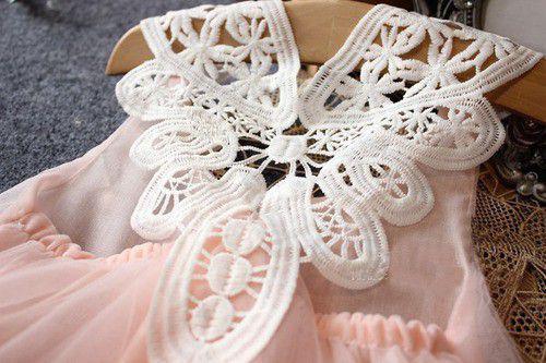 Imagem de Vestido Infantil Menina Festa De Brim Tule Florido Casamento