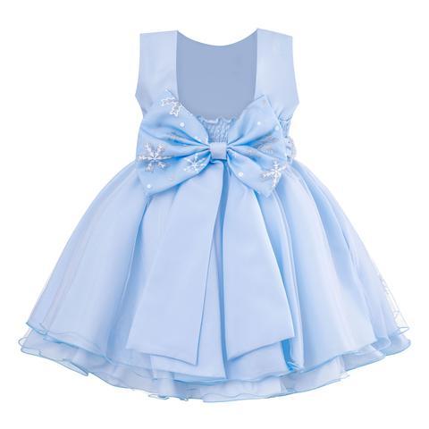 Imagem de Vestido Infantil Princesa Frozen Azul com Capa Festa 1 ao 4
