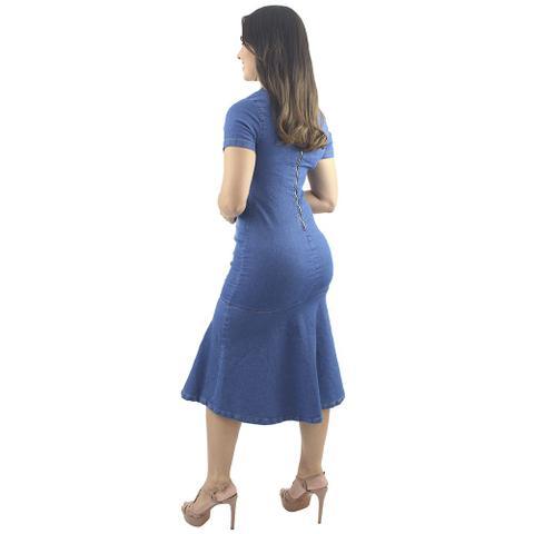 Imagem de Vestido Jeans Evangélico com Babado Delavê Anagrom Ref.5007
