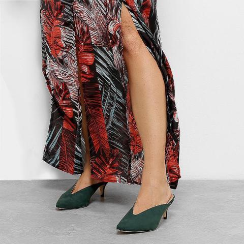 Imagem de Vestido Longo Lily Fashion Open Shoulder Chiffon Folhagem