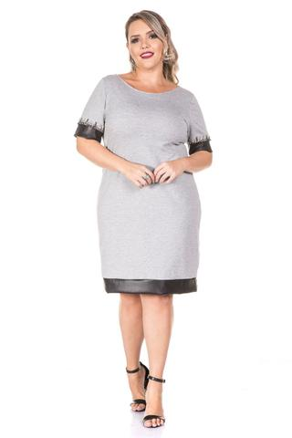 Imagem de Vestido Plus Size Cinza