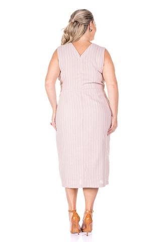 Imagem de Vestido Plus Size Listrado