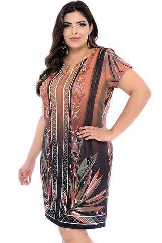 Imagem de Vestido Plus Size Marrom Arizona