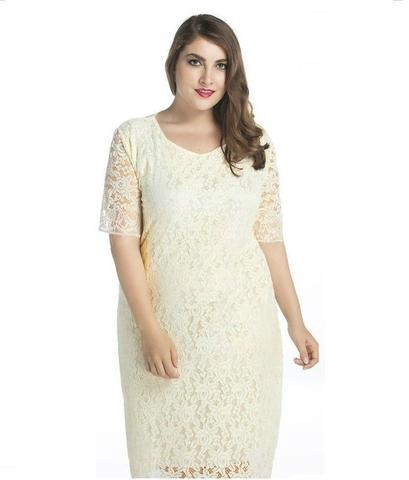 Imagem de Vestido Renda Casamento Plus Size Noiva Festa Civil