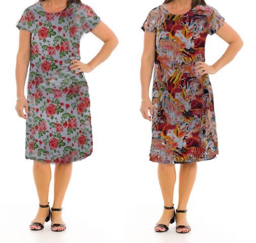 Imagem de Vestido Senhora Moda Evangélica Kit 10 peças Revenda Sortidas Atacado