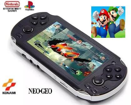 Imagem de Video Gamer Portátil jogos Nes Nintendo Sega + MP4 com Fone Lançamento