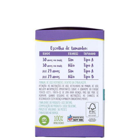 Imagem de Violeta Cup Tipo A Transparente - Coletor Menstrual 40g