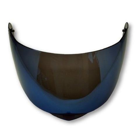 Imagem de Viseira Azul Iridium Capacete Escamoteável Helt 950 Hippo Glass Anti Risco 2.2mm Polivisor