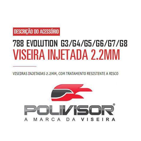 Imagem de Viseira Cristal Capacete Pro Tork 788 Evolution G3/G4/G5/G6/G7/G8 Anti Risco 2.2mm Polivisor