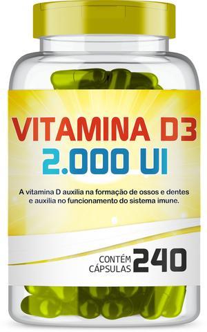 Imagem de Vitamina D3 2.000 Ui com 240 Capsulas