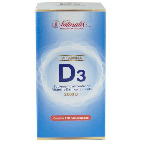 Imagem de Vitamina D3 2000UI 120 comprimidos Naturalis
