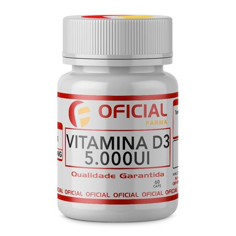 Imagem de Vitamina D3 5000Ui 60Cápsulas