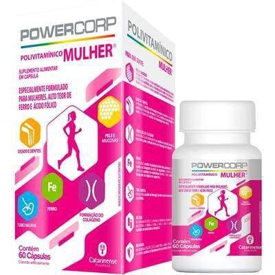 Imagem de Vitamina powercorp mulher com 60 cápsulas