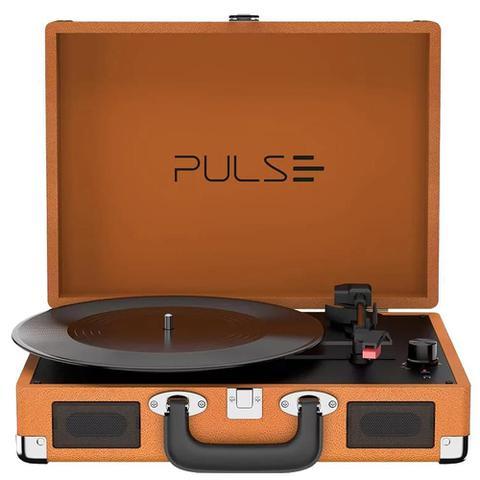 Imagem de Vitrola Multilaser SP364 Retro Pulse Berry Suitcase Turntable Bluetooth - Marrom
