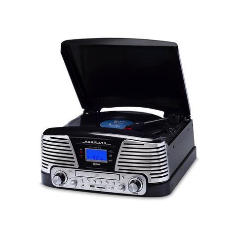 Imagem de Vitrola Raveo preta Harmony CD Player USB - SD Card Bluetooth