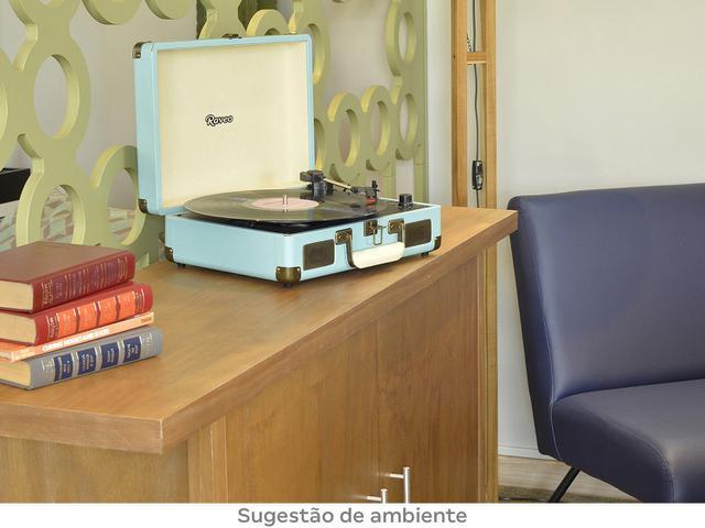 Imagem de Vitrola Raveo Sonetto Azul Bluetooth