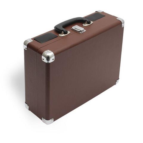 Imagem de Vitrola Toca Discos de Vinil Bluetooth com Conversor Digital e Alto Falantes Maleta Uitech