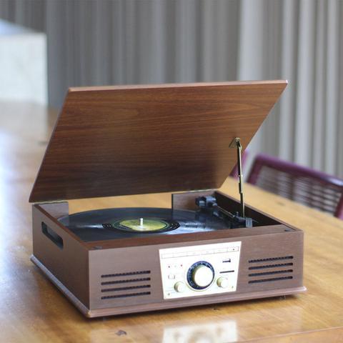 Imagem de Vitrola Toca Discos De Vinil Sonata Bluetooth Bt Mp3 Radio Fm Conv  Digital Arena Phoenix Uitech