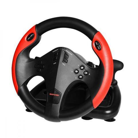 Imagem de Volante Corrida Gamer Com Marcha E Pedal Multilaser- Js087