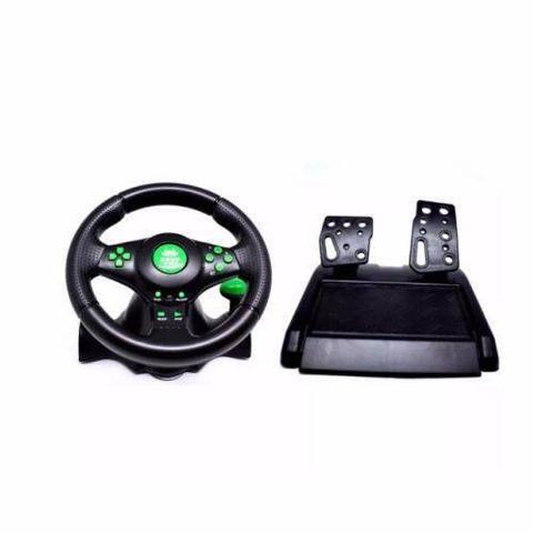 Imagem de Volante De Vibração Para Xbox360 Ps3 Ps2 PcUSB Knup (Kp-5815a)