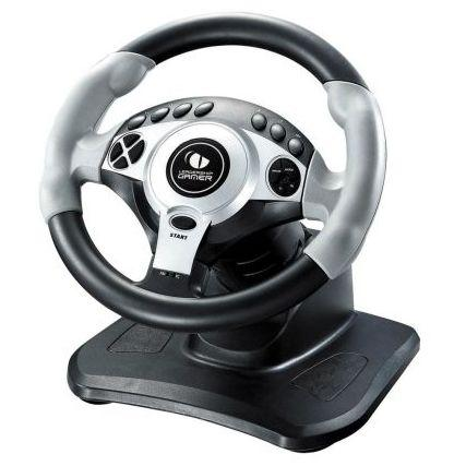 Imagem de Volante Twin Turbo Com Cambio E Pedal Para Pc/Ps2/Ps3 1021 Leadership